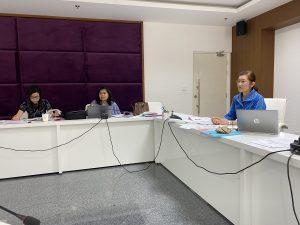 บรรยากาศการประชุมของผู้รับผิดชอบหลักสูตรสาขาพยาบาลศาสตร์