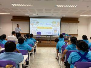 กิจกรรมอบรมแนวปฏิบัติในการป้องกันโรคโควิด 19 สำหรับเจ้าหน้าที่และพนักงานทำความสะอาด ณ คณะพยาบาลศาสตร์   มหาวิทยาลัยราชภัฏเพชรบุรี