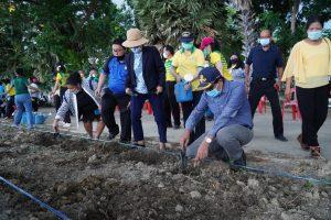 กิจกรรมลงพื้นที่ศูนย์เรียนรู้เศรษฐกิจพอเพียงมหาวิทยาลัยราชภัฏเพชรบุรี เพื่อปลูกสมุนไพร ระยะที่ 2