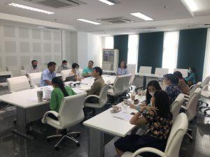 คณะพยาบาลศาสตร์ประชุมร่วมกับสำนักวิทยบริการวางแนวทางพัฒนาสื่อการเรียนรู้ด้วยเทคโนโลยีเพื่อมุ่งสู่ Blended Learning Quality